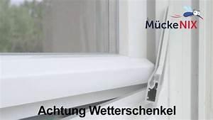 Fenster Mit Wetterschenkel : m ckenix premium fliegengitter auspacken einh ngen ~ Watch28wear.com Haus und Dekorationen