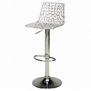 Tabouret De Bar Fixe : tabouret de bar transparent ~ Dailycaller-alerts.com Idées de Décoration