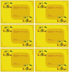 Mes étiquettes Gratuites à Imprimer : etiquettes a imprimer confiture de coings cuisine ~ Nature-et-papiers.com Idées de Décoration