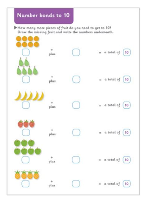 number bonds to 10 worksheet eyfs number bonds to 10 maths worksheet free early years