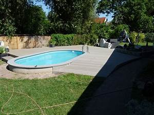 Terrasse um pool deryckere handwerk holz for Pool terrasse
