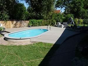Terrasse um pool deryckere handwerk holz for Pool terrasse