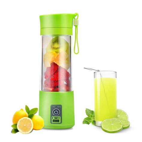 blender juicer portable cup juice fruit mixer usb rechargeable machine 380ml bottle electric mixing kitchen accessories