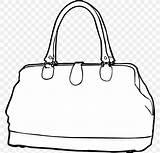 Handbag Clip Drawing Bag Coloring Favpng sketch template
