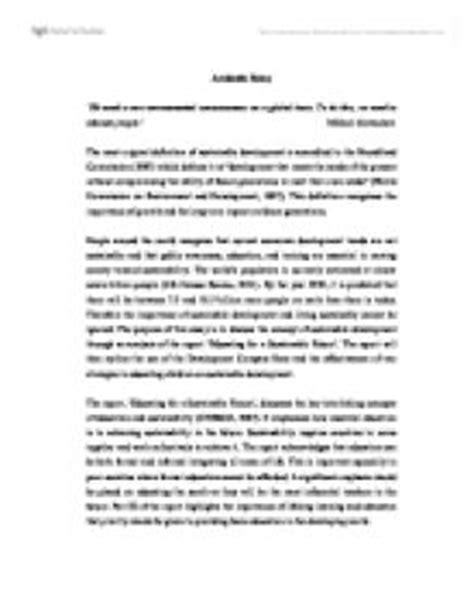 development education  purpose   essay
