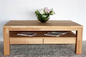 Massivholz Couchtisch geölt Wohnzimmertisch 115x70 2