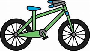 Green Bicycle Clip Art - Green Bicycle Image