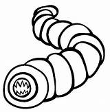 Worm Coloring Earthworm Death Mongolian Worms Animals Printable Earth Animal Sheet Coloringpages101 Animalstown sketch template