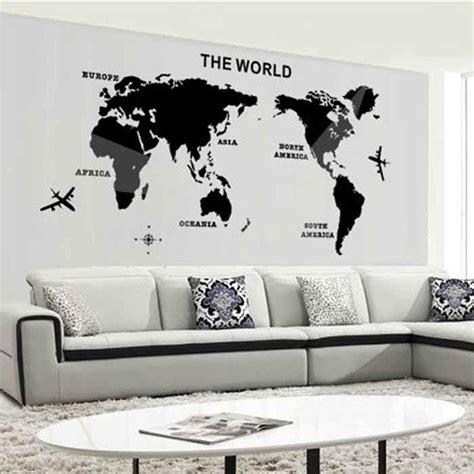 mapa  mundo de parede espelho  adesivos de parede