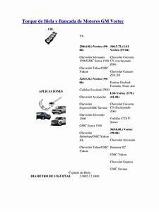 Torque De Biela Y Bancada De Motores Gm Vortec
