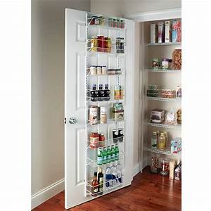 1adjustable over the door shelves kitchen pantry organizer for Pantry door storage rack