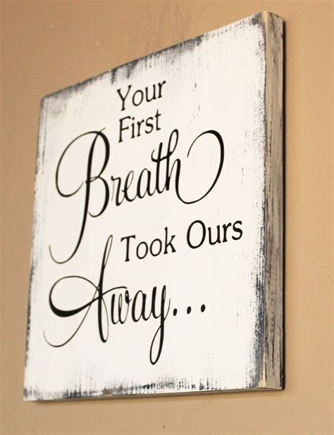 breath    wood sign gift  baby