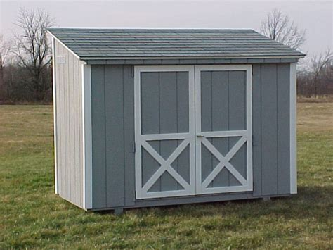 4x8 Wood Storage Shed by Lean To Storage Sheds