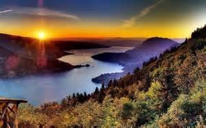 Forest Sunset Landscapes