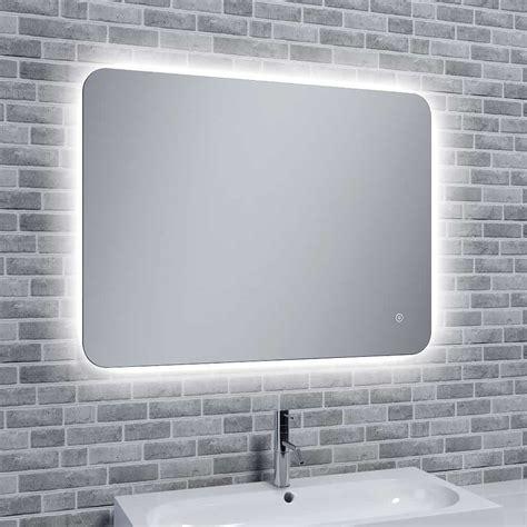 rona slim illuminated bathroom led mirror  mood light