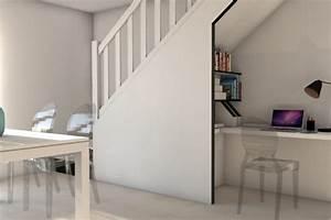 Bureau Sous Escalier : amnagement bureau sous escalier cool agencement combles ~ Farleysfitness.com Idées de Décoration
