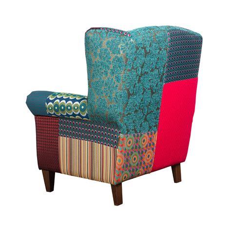Green Armchair by Buy Desigual Patchwork Jacquard Armchair Green Amara