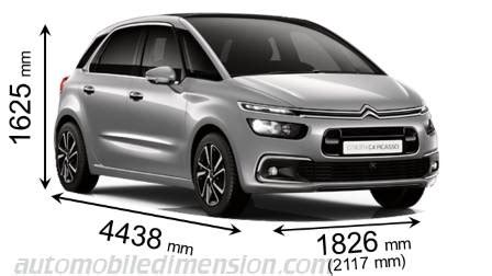 dimension grand c4 picasso dimensions citroen c4 picasso 2016 coffre et int 233 rieur