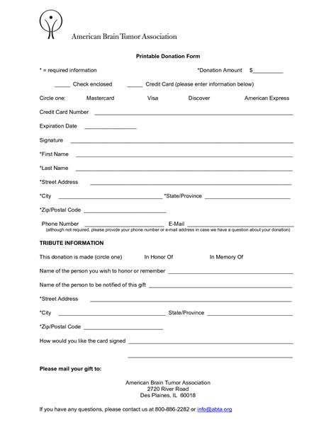 donation form template 6 free donation form templates excel pdf formats