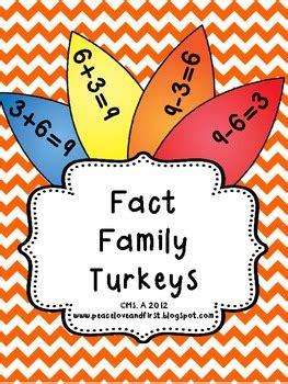 fact family turkeys  peace love   teachers pay