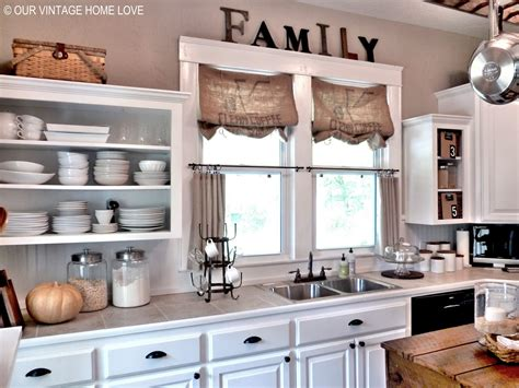 kitchen shades ideas vintage home inexpensive window treatments and a
