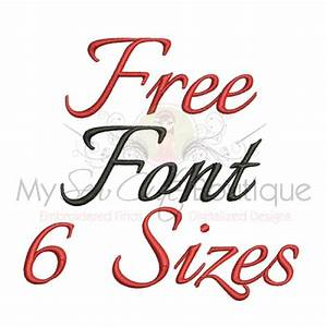Free embroidery fonts machine embroidery font for Letter it embroidery software free trial