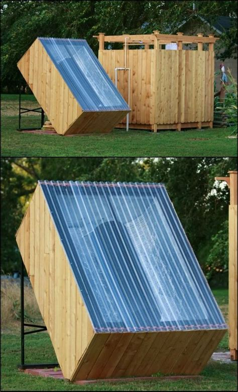 How To Build An Outdoor Shower With A Solar Water Heater