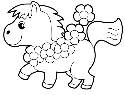 Little Horse Preschool Coloring Pages Animals
