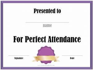 Perfect Attendance Certificate Template Perfect Attendance Award Certificates