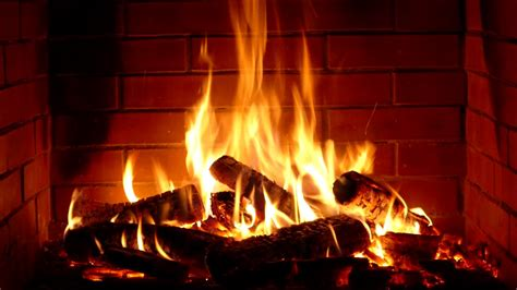 fireplace full hd  hours crackling logs
