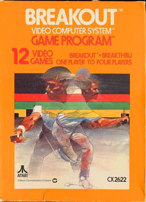 Breakout Vintage Atari Vcs Game Cartridge Box Art