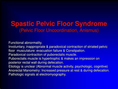 pelvic floor spasm ppt mri in pelvic floor disorders powerpoint