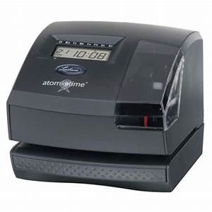 lathem atomic electronic time recorder and document stamp With electronic document stamp machine