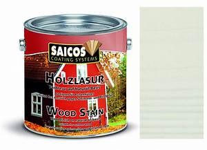 Holzlasur Weiß Innen : saicos holzlasur wei transparent 2 5 liter gebinde 2 5 liter holzlasur au enbereich ~ Udekor.club Haus und Dekorationen