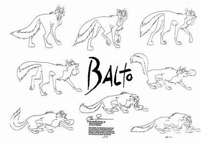 Balto Character Cartoon Sheet Drawings Characters Sheets