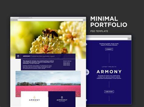 minimal portfolio psd  images website template