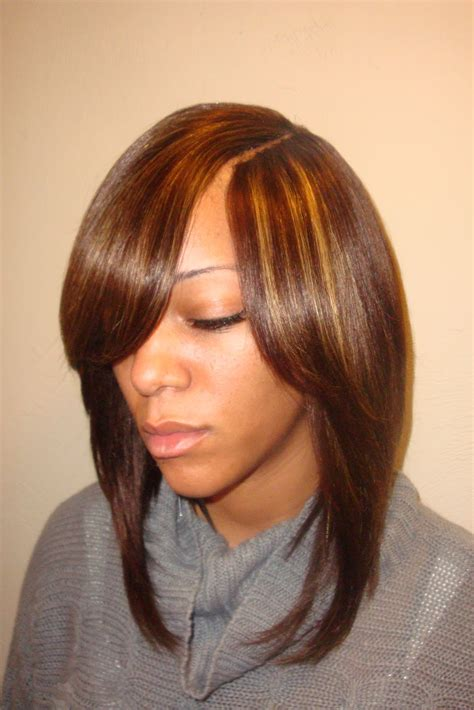 Bob Sew Weave Hairstyles by Weave Bob Hairstyles With Side Part Photosgratisylegal