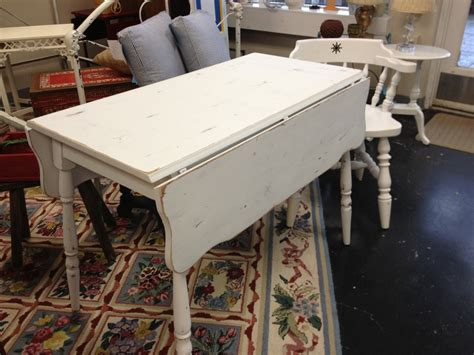 white painted drop leaf kitchen table simply vintage