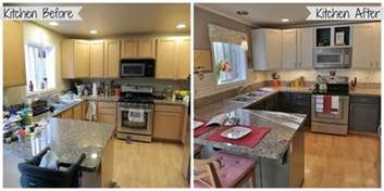 Painted Kitchen Cabinets Before And After Grey by Plain Painted Brown Kitchen Cabinets Before And After N Inspiration