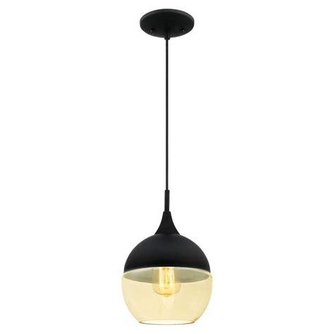 westinghouse 1 light matte black mini pendant 6345900