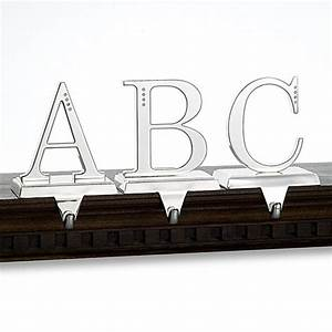 harvey lewisr initial stocking holder with crystallized With monogram letter stocking holder