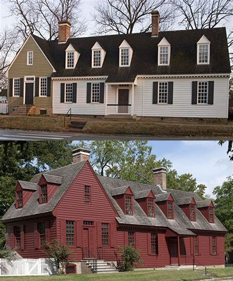 the davenport house before top and after the repainting colonial williamsburg