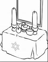 Coloring Hanukkah Dreidel Clipartmag Symbols Chanukah sketch template