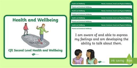 * New * Cfe Second Level Health And Wellbeing Experiences And Outcomes
