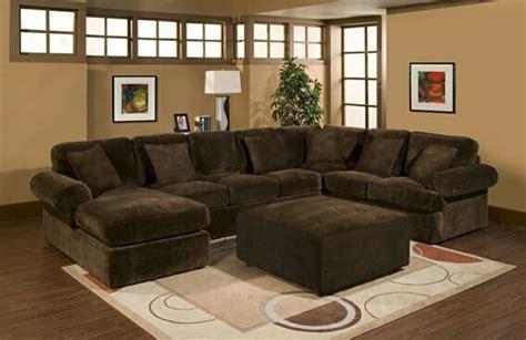 pc bradley sectional sofa  chocolate plush velour