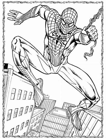 Spiderman Coloring Spider Amazing Pages Printable Coloringbay