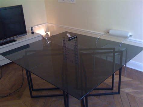 bureau table verre dessus de bureau en verre maison design modanes com
