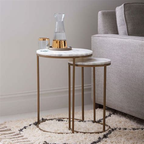 Browse our great prices & discounts on the best marble nesting tables end tables. Round Nesting Side Tables Set - Marble/Antique Brass | west elm Australia