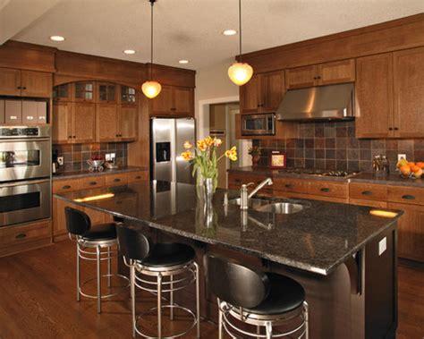 oak cabinet granite countertop houzz