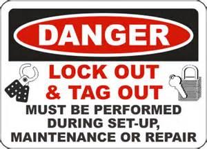 Danger Lock Out  U0026 Tag Out Label C4166l